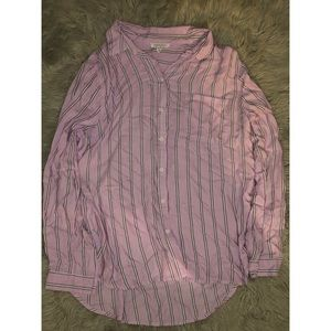 Pink Striped Flannel 💕
